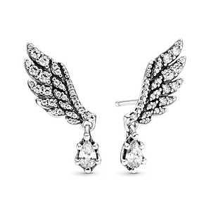 Aros Alas de angel colgantes