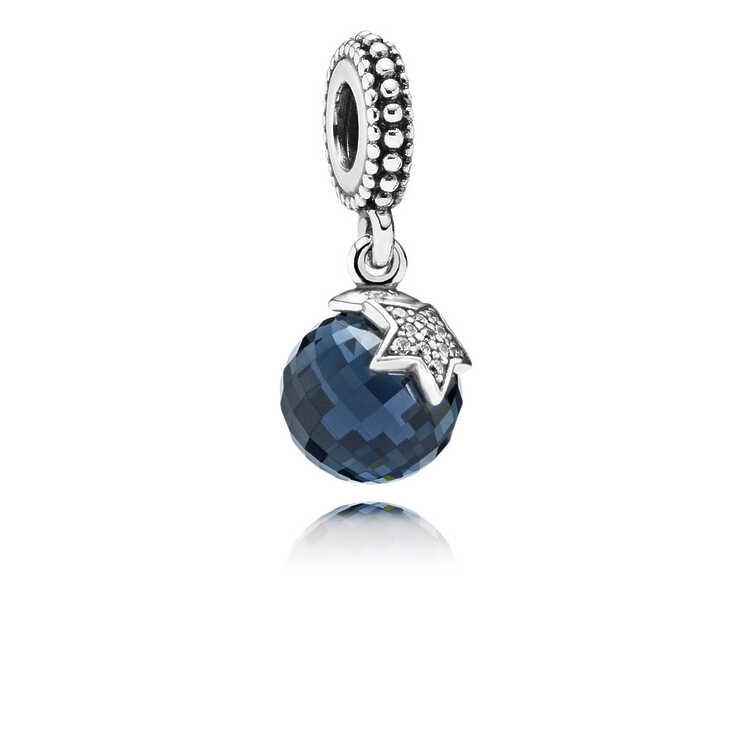 Charm Luna y estrella, azul