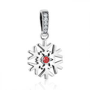 Charm Copo de nieve, cristal rojo, colgante