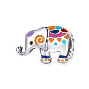 Charm Elefante colorido
