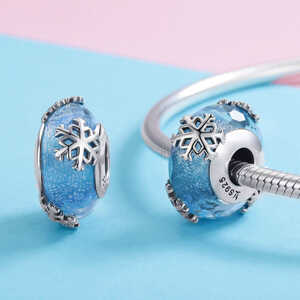 Charm Nieve de invierno, cristal murano