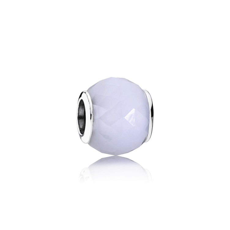 Charm Facetas geométricas, blanco opalescente
